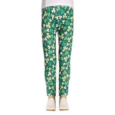 de75e6481b38e Amazon.com: Little Kids Baby Boys Girls St.Patrick's Day Trousers 2-9 Years Shamrock  Irish National Day Pants Leggings Clothes: Clothing