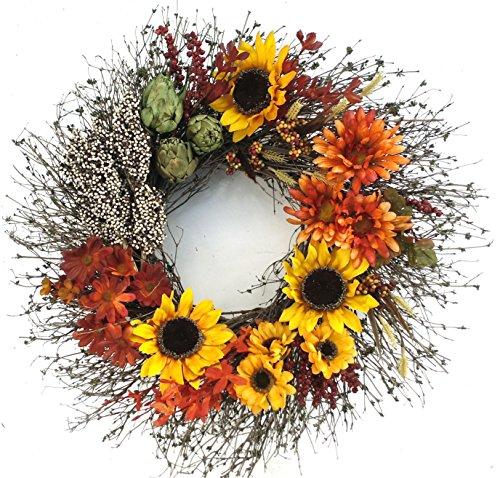 Sunflower Medley Decorative Wreath 18 inch