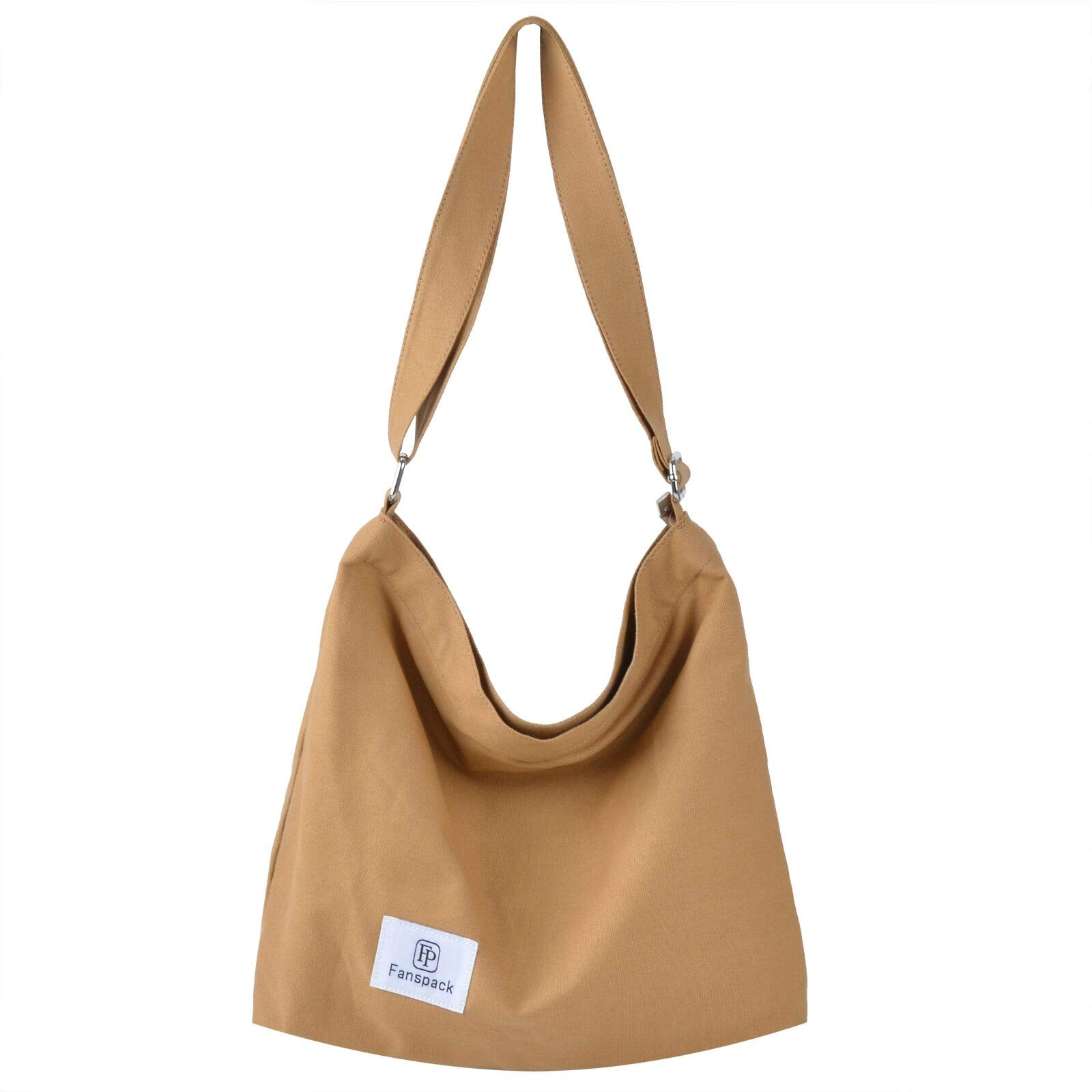 Fanspack Women's Canvas Hobo Handbags Casual Hobo Tote Bag Crossbody Bags Shoulder Bag Shopping Work Bag