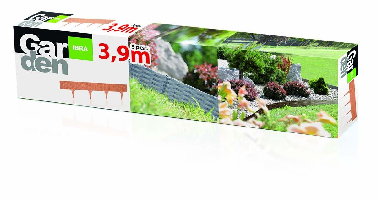 Prosper Plast ibra-405u 390 x 18.65 cm jardín frontera – piedra ...
