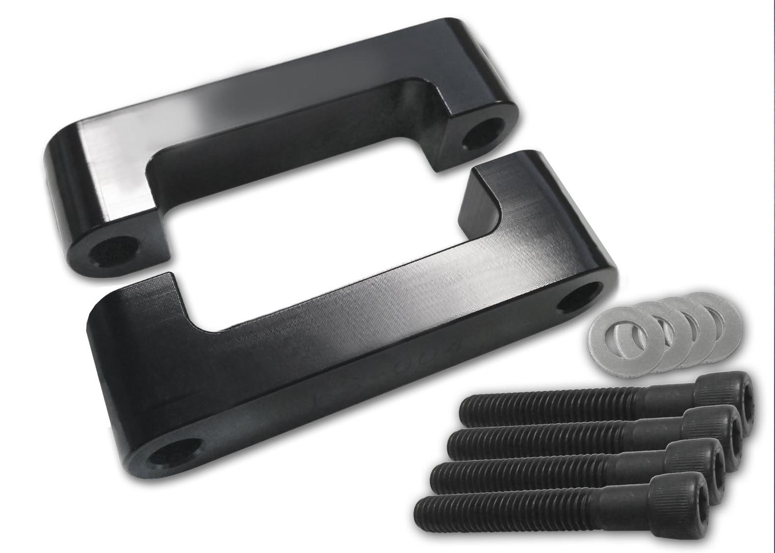 """Bagger Brothers ( BBFB-001B ) Black Anodized 21""""  Front Fender Bracket"""