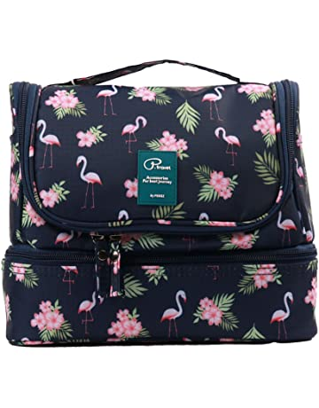 Beauty Case da Viaggio Borsa da Toilette Appendibile Tuscall Cosmetico Bag  Impemeabile Multi-compartimenti Sacchetto f85e6bd9021