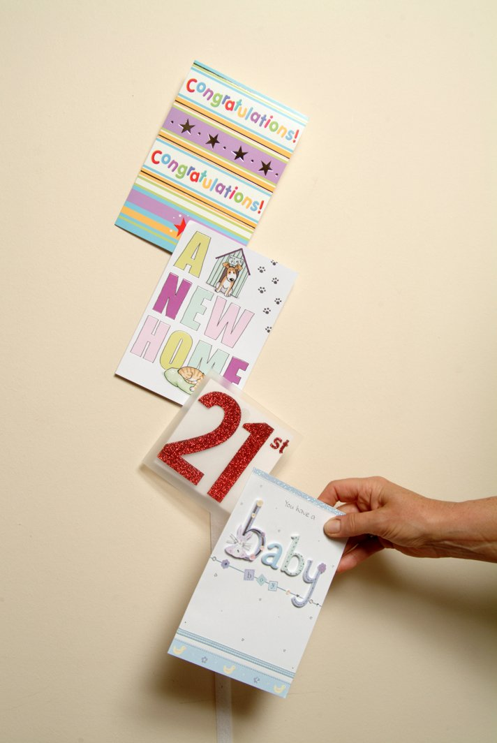 Christmas Card Hang Ups Adhesive Velcro Hanging Display Kit - Quick ...