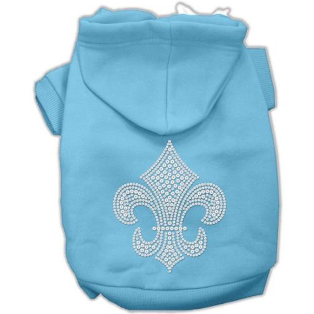 Baby bluee XXX-Large Baby bluee XXX-Large Mirage Fleur De Lis Hoodies, XXX-Large, Baby bluee