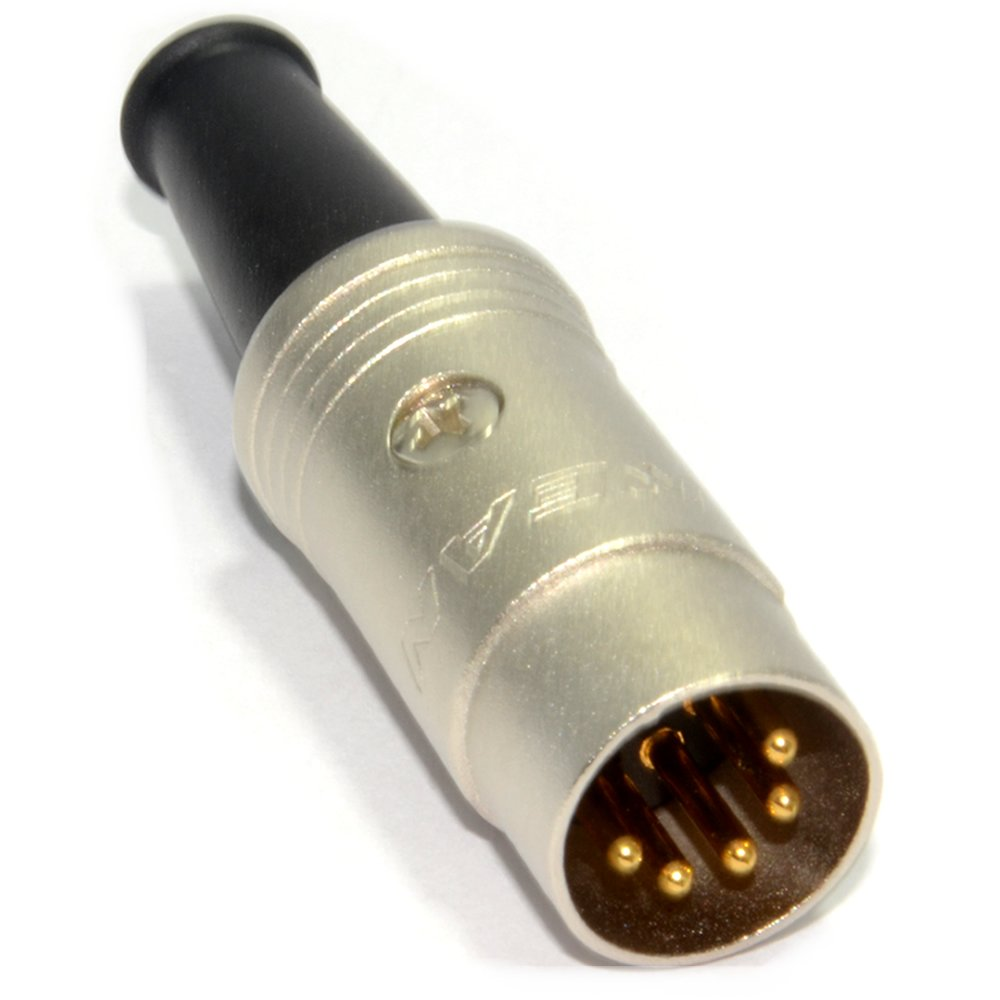 kenable REAN 5 Pin Din Male Soldering End Terminal with Strain Relief