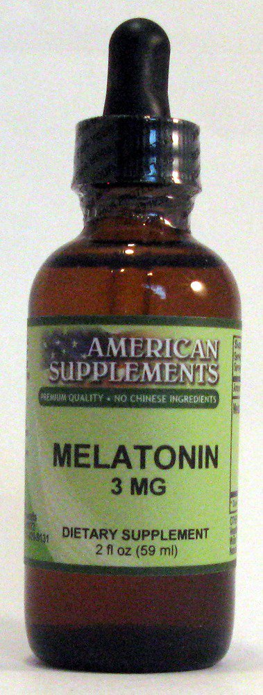 Amazon.com: Melatonin 3 mg Alcohol Free American Supplements 2 oz ...