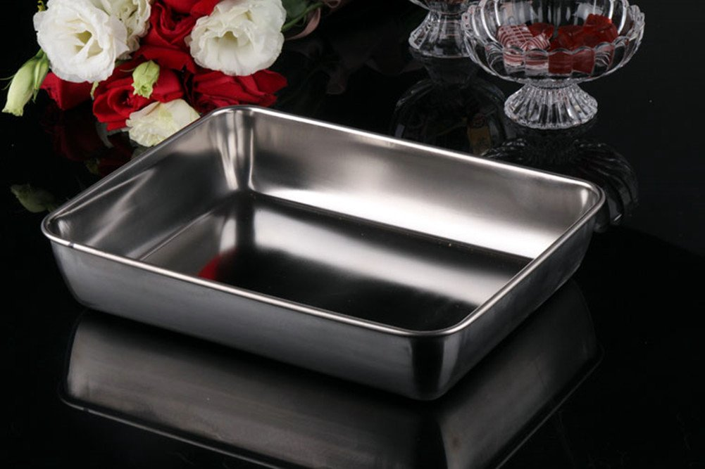 Sheet Pan,Cookie Sheet,Hotel Pan,Heavy Duty Stainless Steel Baking Pans,Toaster Oven Pan,Jelly Roll Pan,Barbeque Grill Pan,Deep Edge,Superior Mirror Finish, Dishwasher Safe By Meleg Otthon by meleg otthon (Image #4)