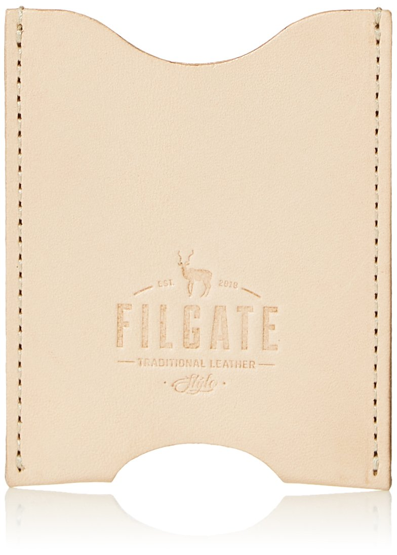 Filgate Genuine Leather Card Sleeve Cash Wallet Natural