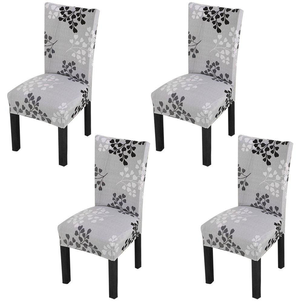 YISUN Dining Chair Slipcovers,[Scenery series] Stretch Removable Washable Dining Chair Protector Cover Seat Slipcover for Hotel,Dining Room,Ceremony,Banquet Wedding Party (4, S07)