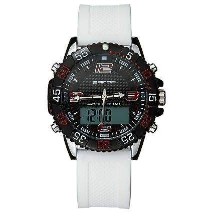 FW-TT Smart Watch, para Hombre Relojes Reloj Deportivo Digital con Doble Horarios Movimiento