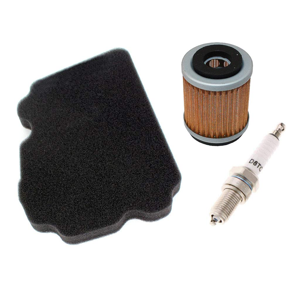AISEN Filtro dellaria con filtro dellolio sostituisce Hiflo HFA 4202 HF143 candela di accensione per Yamaha TW 125 TW 200 TRAILWAY 5EK 5RS 1999-2004