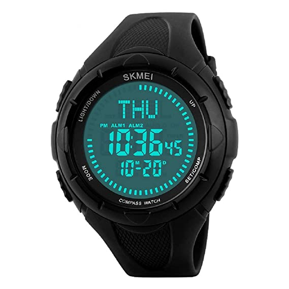 Amazon.com: Lomanda Watch Army with Compass, Digital Outdoor ...