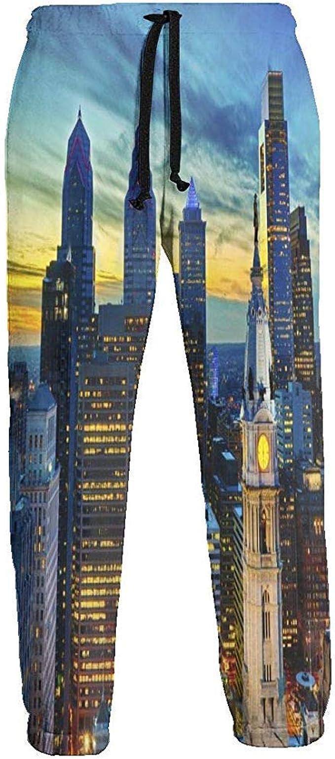 American City Night Scene Pantalones de chándal Pantalones de ...