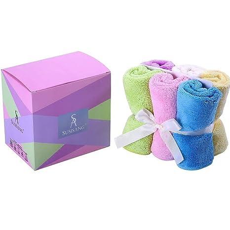 susisang toallas toalla de mano de microfibra para la máxima suavidad y absorbencia (6 unidades