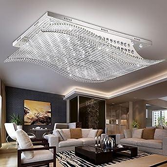 jj moderna lmpara de techo led moderno y minimalista rectangular led lmpara de techo de cristal