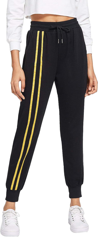 SOLY HUX Womens High Waist Colorblock Side Soft Skinny Leggings Yoga Pants