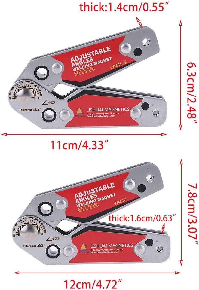 Folewr-8 Schwei/ßmagnet Magnetische Schwei/ßwinkel Schwei/ß-Zubeh/ör,Winkel 20-200/°