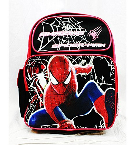 Medium Backpack - Marvel - Spiderman Hero Black School Bag New a01283 Ruz