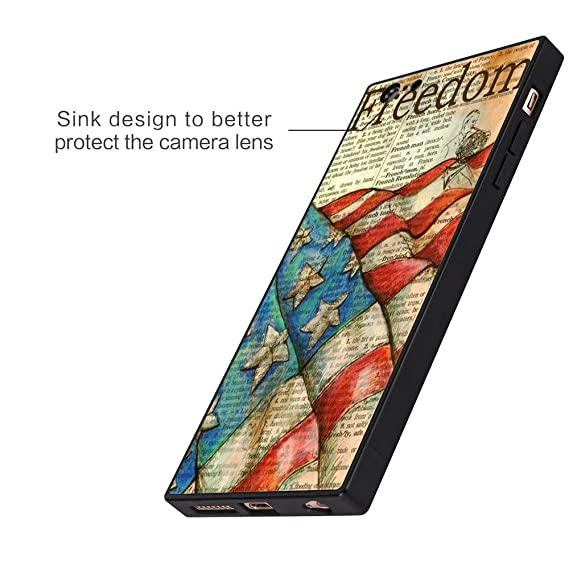 Amazon com: iPhone 6s 6 Case, American Flag Shock-Absorption