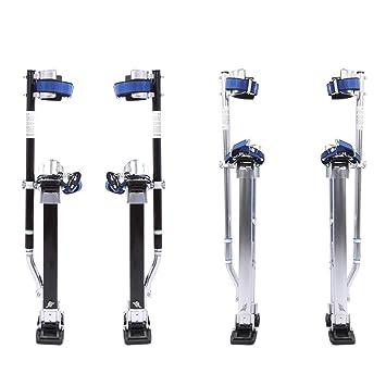 Aleación de Aluminio Profesional Ajustable Pilotes de Drywall Zancos de Revestimiento Herramienta de Pintor (24-40 Pulgadas (61-102cm), Plata): Amazon.es: ...