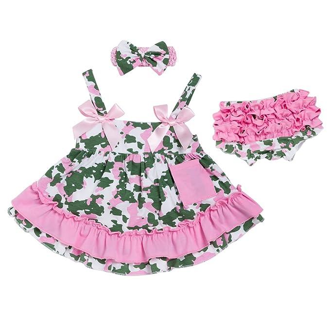 Yiiquan Bebé Niñas Camuflaje Vestido de Tutú Imprimir Traje de ...