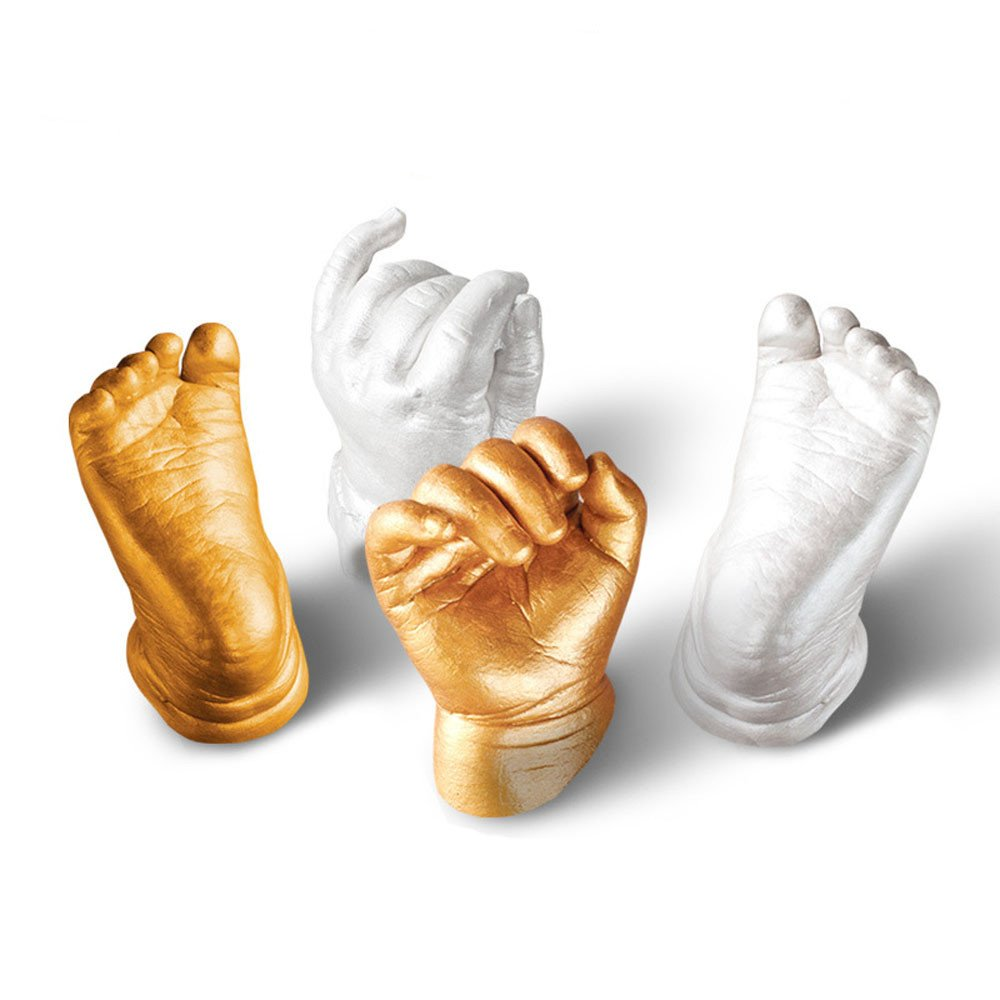 Bibite 3D Plaster Handprint Footprint Baby Mould Hand&Foot Casting Prints Kit Cast Gift Bibite-baby-888