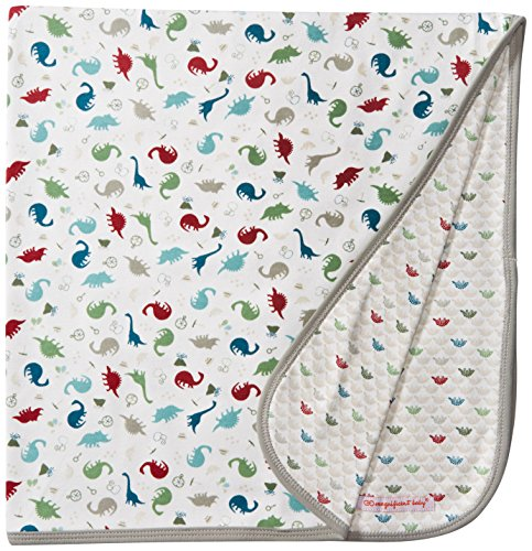 Magnificent Baby Boys' Dino Expedition Reversible Receiving Blanket, Dino Explorer, One Size