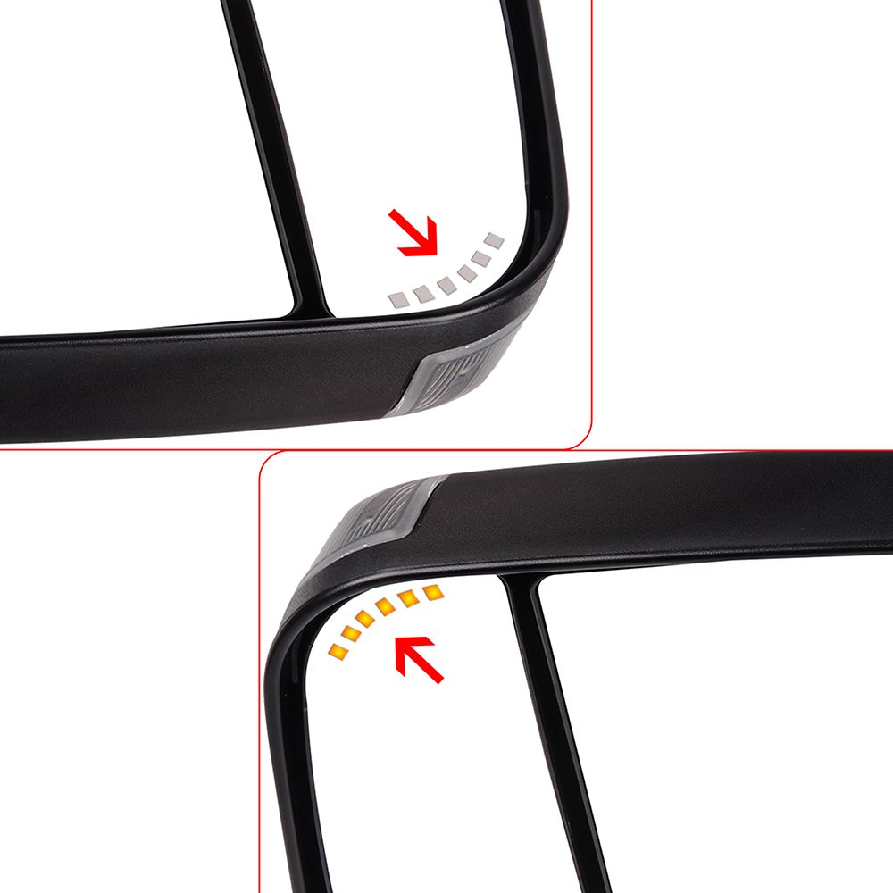 INEEDUP Tow Mirrors Rearview Mirrors Fit for 2002-2008 Dodge Ram 1500 2003-2009 Dodge Ram 2500/3500 with Power Control Heated Turn Signal Light Left and Right Side ADP11633701S Exterior Accessories Hitch Accessories