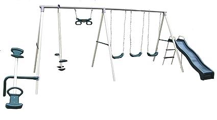 Amazon Com Flexible Flyer Fun Fantastic Swing Set With Plays