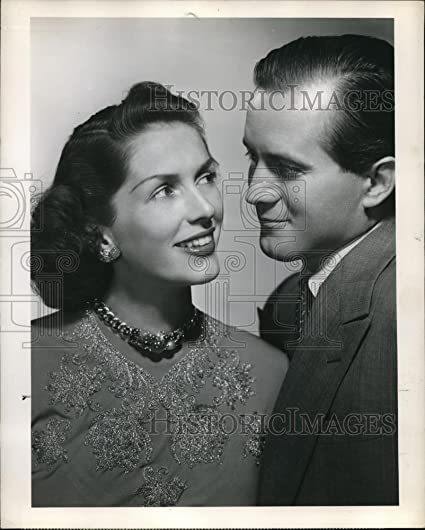 Press Photo Jinx Falkenburg and Tex McCrary in Tex ad Jinx on NBC - orp18456