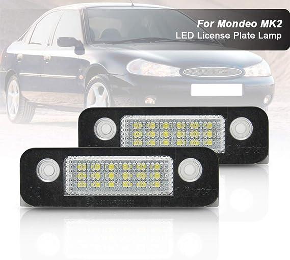 Nslumo 2 Stueck Weiße Kennzeichenbeleuchtung Licht Einheiten Für F Ord Fusion Fiesta Mondeo Auto