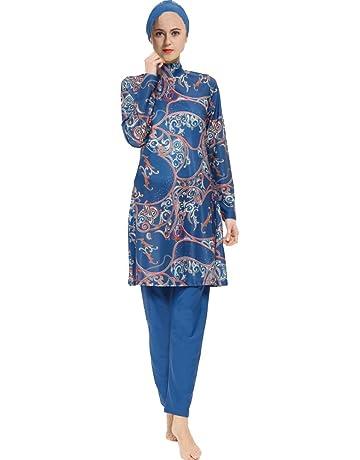 9164c2e286 Mr Lin123 Musulmane Maillots de Bain pour Femmes Filles Modeste Islamique  Hijab Surfer sur Internet pour
