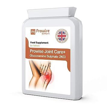 Sulfato de Glucosamina 2KCL 1500mg 60 Comprimidos - Absorción Rápida Apoyo Directo para Articulaciones y Cartílago Salud - Reino Unido Fabricado al más alto ...