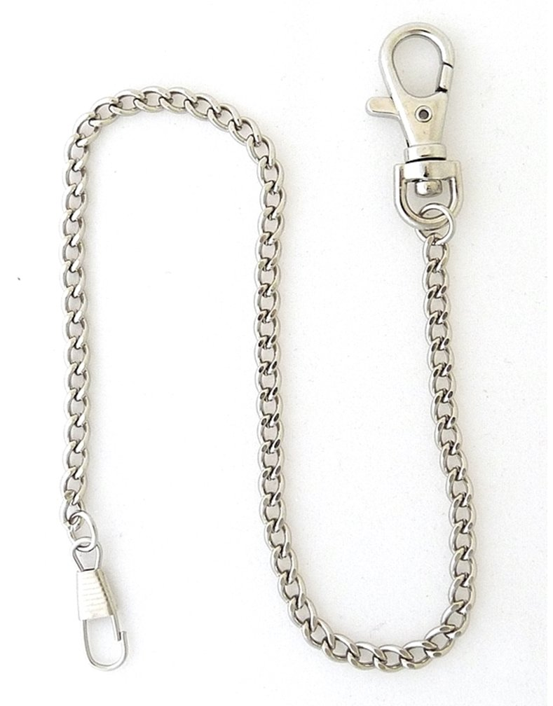 Desperado Heavy Duty Chrome Plated Silver Tone Pocket Watch Chain