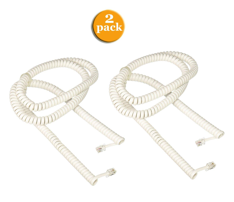 RCA 25 feet Handset Coil Cord White TP282W