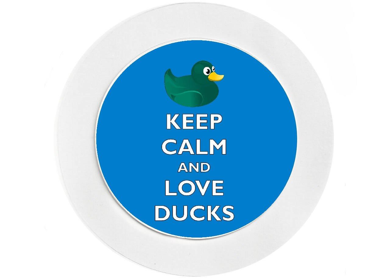 Keep Calm and Love Ducks NEW Novelty Fun Car Tax Disc Holder