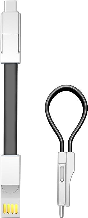 Innogadgets Usb Schlüsselanhänger Ladekabel 3in1 Datenkabel Für Iphone Micro Usb Und Usb C Kabel Blitzschnelles Laden Von 3 Geräten Für Iphone Ipad Samsung Galaxy Htc Huawei Sony Schwarz Bekleidung
