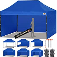 ABCCANOPY 15+Colors Commercial 10x10/10x15/10x20 Ez Pop up Canopy, Party Tent, Fair Gazebo and Roller Bag Bonus 4X Weight Bag
