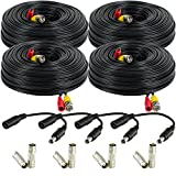 Cheap Amcrest 4-Pack 150 Feet Pre-Made All-in-One Siamese BNC Video and Power CCTV Security Camera Cable with Two Female Connectors for 960H & HD-CVI Camera and DVR (SCABLEHD150B-4pack)