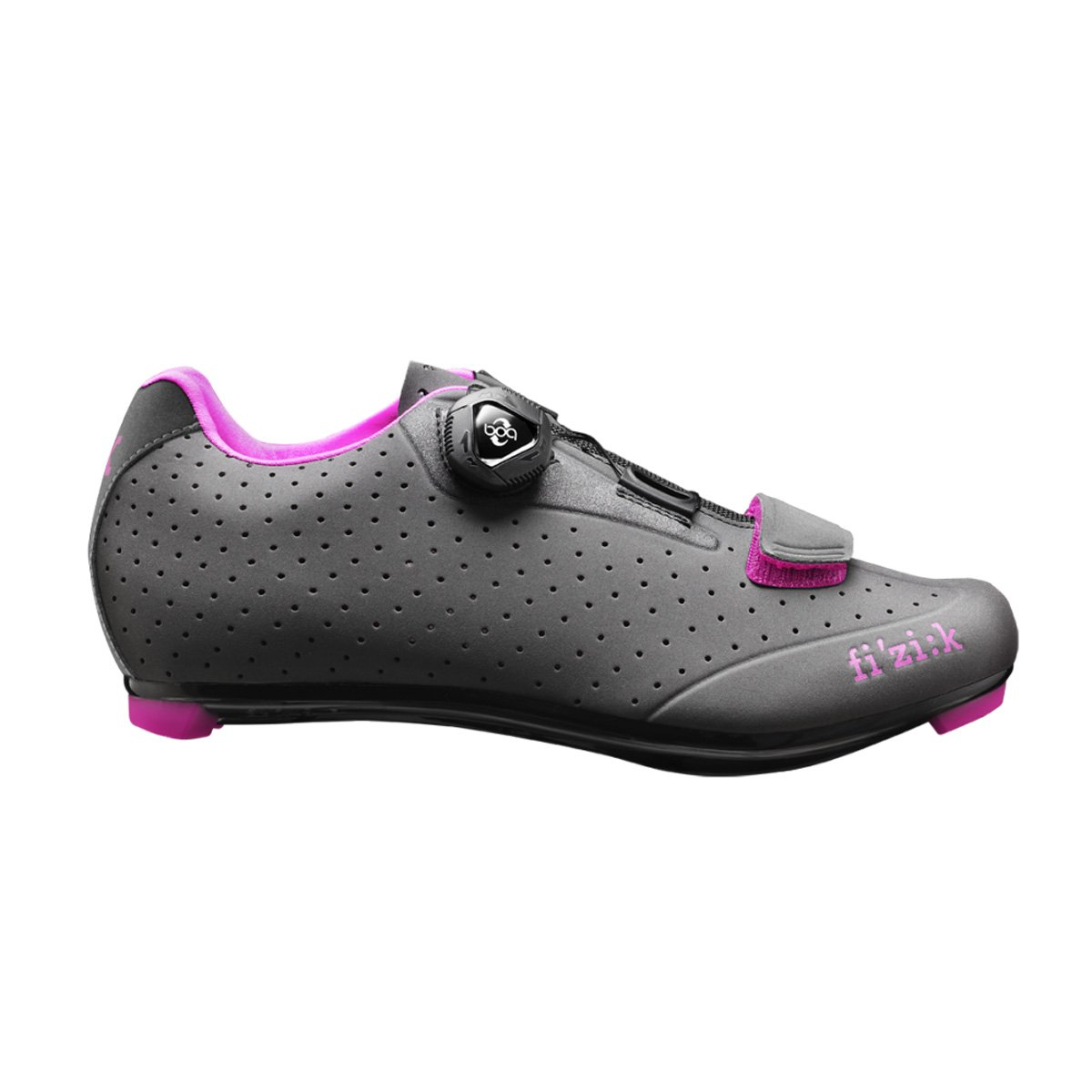 Fizik R5B Donna BOA Shoe with Fuschia Trim B01DW8JGLA Size 39.5|Anthracite