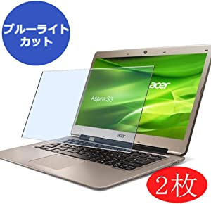 """【2 Pack】 Synvy Anti Blue Light Screen Protector for ACER Aspire S3-331 / S3-371 / S3-391 13.3"""" Screen Film Protective Protectors [Not Tempered Glass]"""