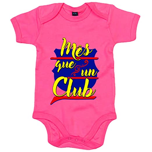 Body bebé Barcelona Més que un Club - Amarillo, 6-12 meses: Amazon.es: Bebé