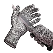 Cut Resistant Gloves Protection Level 5 High Kitchen Grade - Comfortable, Good Elastic, and Food Sevice Safe(M) Wizvv