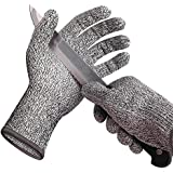 Wizvv Cut Resistant Gloves Level 5 Protection High Kitchen Grade, Comfortable, Good Elastic, and Food Sevice Safe