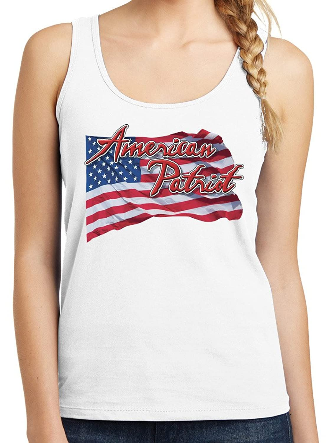 Womens American Patriot Graphic Tank Top