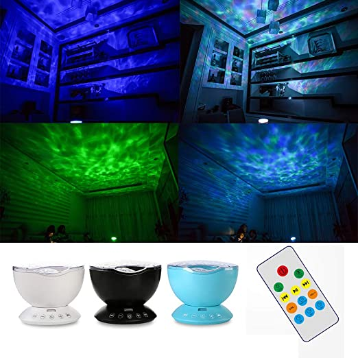 Ocean Wave Noche la luz del proyector con el Reproductor de música ...