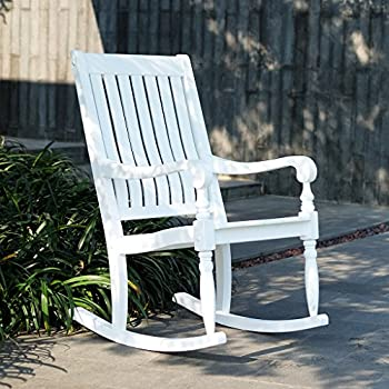 Cambridge-Casual AMZ-130826WH Thames Rocking Chair, White