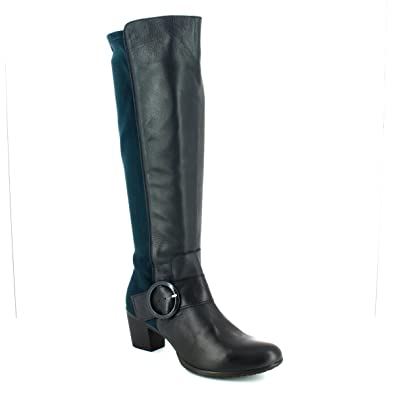 4dde6c24a526 Wonders G4704-77 HEXWILL Navy Womens Knee-high Boots  Amazon.co.uk ...