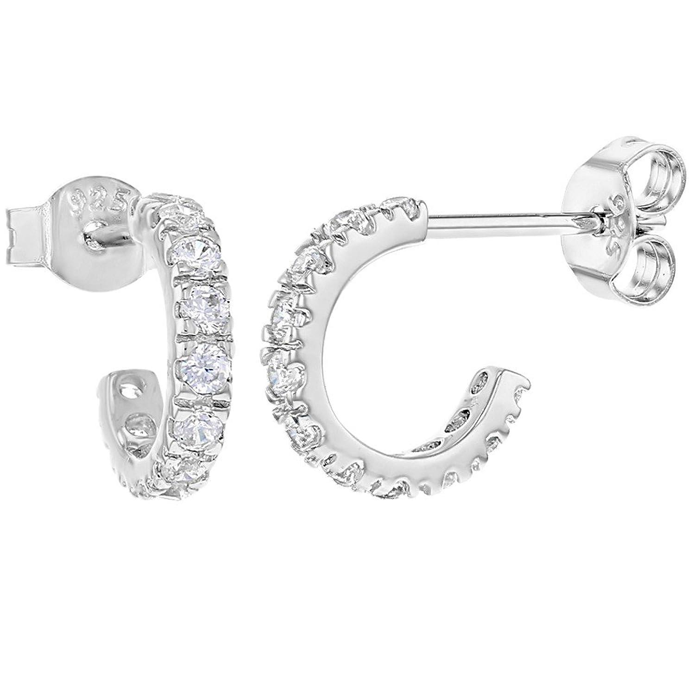 blackbox Jewelry Sterling Silver Rhinestone Crystal Long Twist Drop Dangle Earrings
