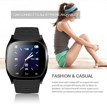 M26 Bluetooth Smart Reloj muñeca sincronización teléfono ...